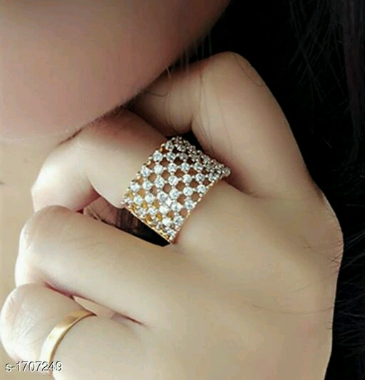 Women's Partywear American Diamond Ring