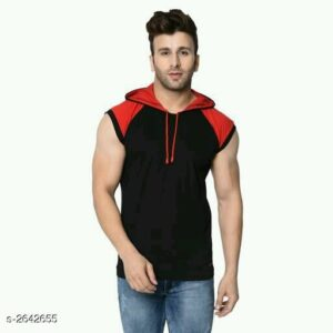 Men's Casual Cotton T-Shirts With Hood