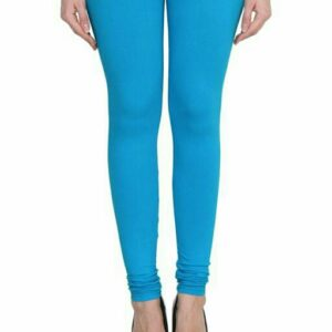 Attractive Blue-Pink Cotton Women's Leggings