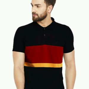 Cotton Men's Striped Polo T-Shirts