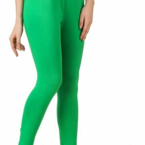 Attractive Green Cotton Women's Leggings