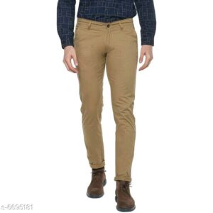 Stylish Men's Brown Trousers