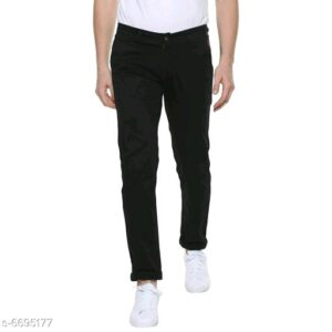 Stylish Men's Black Trousers