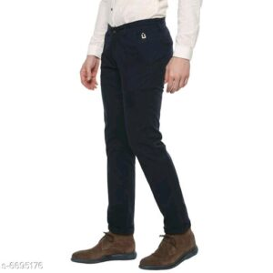 Stylish Men's Navy Blue Trousers