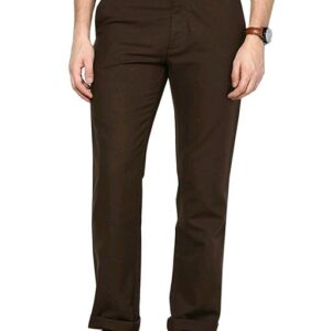 Stylish Men's Dark Brown Trousers