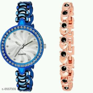 Fancy Women Watch and Bracelet