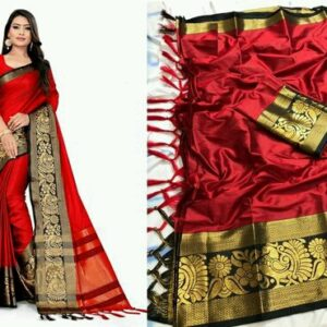Attractive Pure Banarasi Cotton Silk Sarees