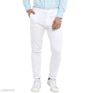 Stylish Men's White Trousers