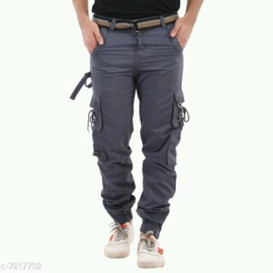 Trendy Men's Cargo Grey Trousers