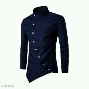 Stylish Partywear Mens Solid Shirts