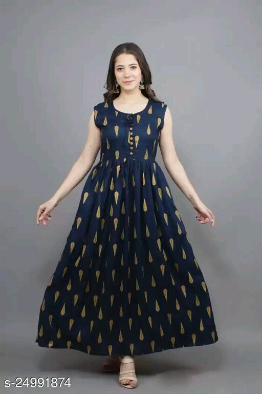 Women's Stylish Indo Western Rayon Gowns