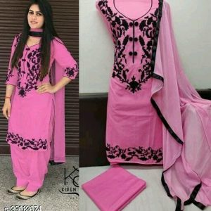 Cotton Floral Embroidered Suits and Dress Materials