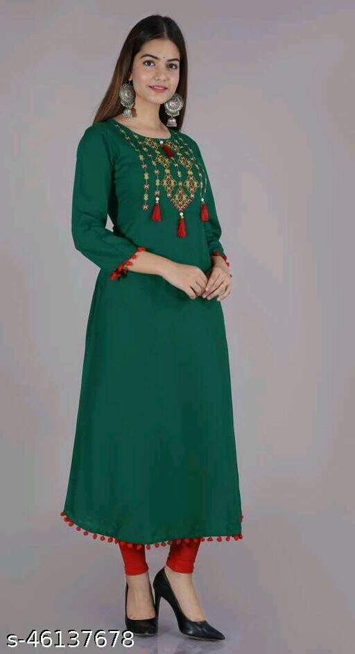 Embroidered Anarkali Gown Kurtis for Women