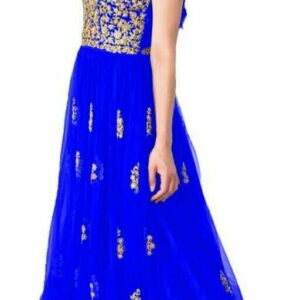 Embroidered Designer Net Long Gowns for Girls